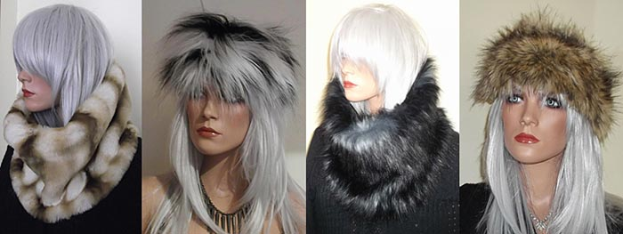Faux fur accessories for winter