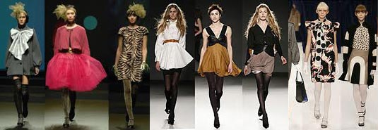 Some of the tights worn on the catwalk in fashion week