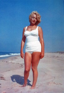 Marilyn Monroe in a swimsuit
