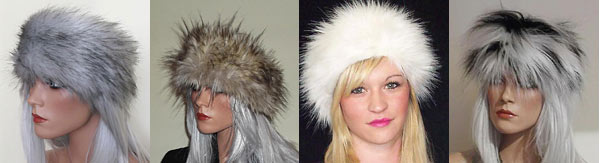 Long haired faux fur headbands