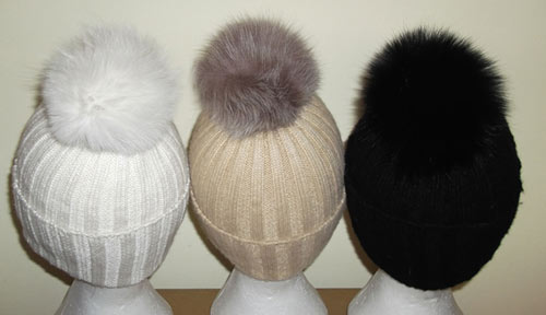 Fox Fur Bobble Hats