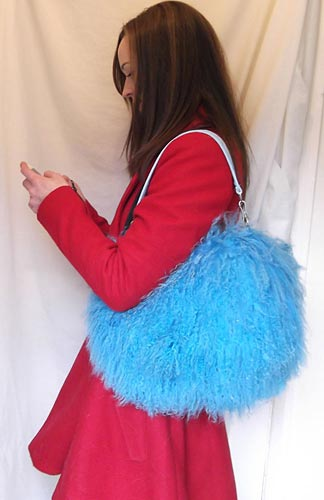 Mongolian Sheep / Lamb Fur Handbag