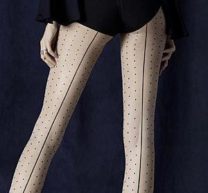 Fiore Intrigue Seamed Polka Dot Tights