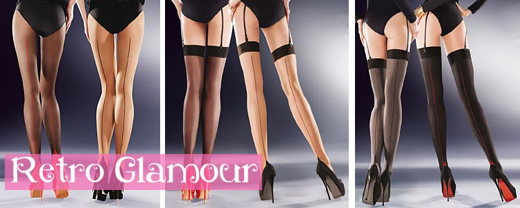 Retro Style Seamed stockings