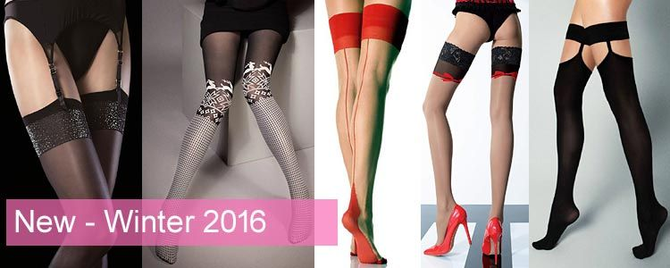 Opaque stockings and tights for winter 2016